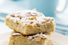 Feijoa and almond slice recipe, NZ Womans Weekly – Make the most of seasonal feijoas with this quick to prepare slice - Eat Well (formerly Bite) Fruit Recipes, Baking Recipes, Recipies, Date Slice, How Sweet Eats, Recipe Using, Soul Food, Delish, Sweet Tooth