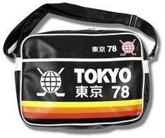 Retro Tokyo 78 Ice Hockey Shoulder Flight Bag Black | Adaptor Clothing