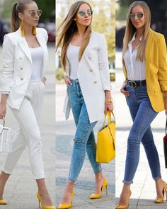 lovely chic spring outfits women for work 1 Blazer Outfits Casual, Classy Work Outfits, Business Casual Outfits, Professional Outfits, Cute Casual Outfits, Stylish Outfits, Dress Outfits, Dresses, Look Fashion
