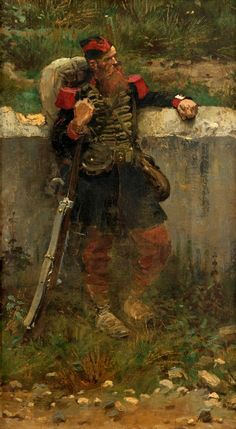 "JEAN BAPTISTE EDOUARD DETAILLE, (FRENCH 1848-1912), : Lot 8 ""The Grenadier"""