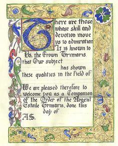 Custom Medieval Illuminated Quotation or by PhoenixRisingDolls, $70.00
