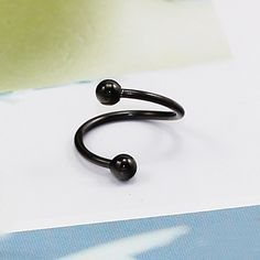 Nose Screw 18 Gauges Black Stainless Steel Twist Nose Ring