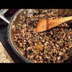 Mushroom pita filling  #greekvegan  #greek #vegan #vegetarian #greekfood #mushrooms #pita #greekmushrooms