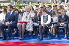 Queens & Princesses - The royal family attended the unveiling of the statue of King Olav in Oslo.