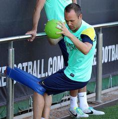 Iniesta Fc Barcelona training