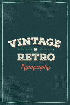 Feeling nostalgic? Check out our post with 50 Beautiful Examples of Vintage and Retro Typography for some inspiration!
