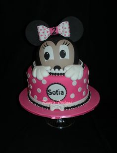Surprise Minnie cake
