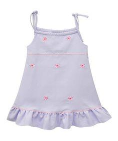 Look at this #zulilyfind! Lavender Daisy Embroidered Dress - Infant & Toddler #zulilyfinds