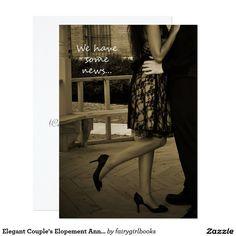 Elegant Couple's Elopement Announcement