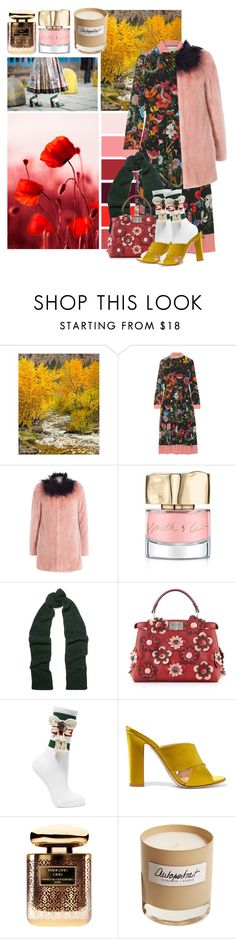 """Garden Girl"" by cherieaustin on Polyvore featuring Grandin Road, Gucci, Shrimps, Smith & Cult, Étoile Isabel Marant, Fendi, Gianvito Rossi, Terry de Gunzburg and Olfactive Studio"