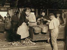 Shucking oysters a long time ago - Bayou La Batre - Alabama