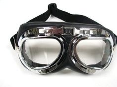 Amazon.com: TMS WWII RAF Aviator Pilot Motorcycle Half helmet Goggles (TMS-33-6): Automotive