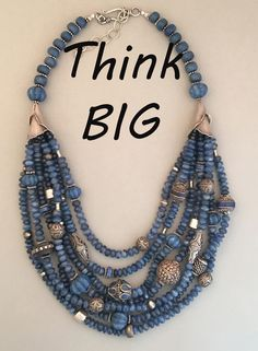 Handcrafted kyanite and mixed silver statement necklac… Sharon Cipriano Jewelry. Handcrafted kyanite and mixed silver statement necklace. One-of-a-kind. Diy Jewelry Necklace, Gold Choker Necklace, Monogram Necklace, Beaded Jewelry, Jewelery, Beaded Necklace, Silver Earrings, Silver Jewelry, Craft Jewelry