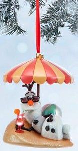 I NEED this ornament! Put me in summer and I'll be a happy snowman! Disney Frozen Olaf in Summer Ornament @Foolish_Lee