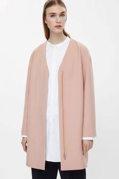 COS | Coat with detachable lapel