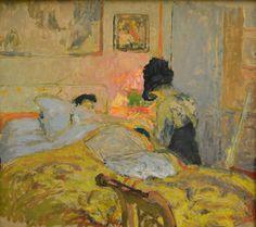 Edouard Vuillard - Madame Hessel et la manucure, 1906 at Kunsthaus Zürich - Zurich Switzerland