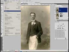 Restauración de fotos antiguas: polvo y rascaduras