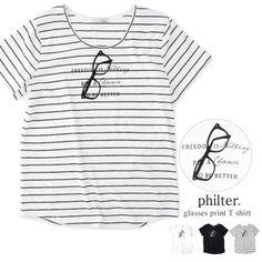 メガネプリントTシャツ