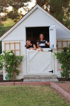 Our New Playhouse - Juniper Home DIY playhouse for kids