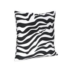 Black White Zebra Print Decorative Accent Throw Pillow Faux Suede (33 CAD) ❤ liked on Polyvore