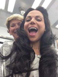 Look who popped in for a visit!!!... Hello, Young Regina!! And Deb in the background! #OnceUponATime #EvilRegals