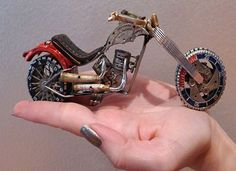 Most pieces of the recycled watch art can fit into the palm of your hand.  http://hometipster.com/recycled-watch-art/