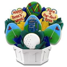 Boss's Week Golf Cookie Bouquet | Cookies by Design