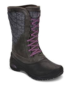 The North Face Womens Thermoball Utility Mid Boot  Burnished Houndstooth PrintBlack Plum  55 ** Details can be found by clicking on the image. (This is an affiliate link)