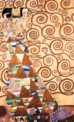 Attesa - particolare dell' Albero della Vita - Klimt Gustav Pannello Stoclet - Klimt Gustav (1862-1918) - STAMPA SU TELA € 50,31