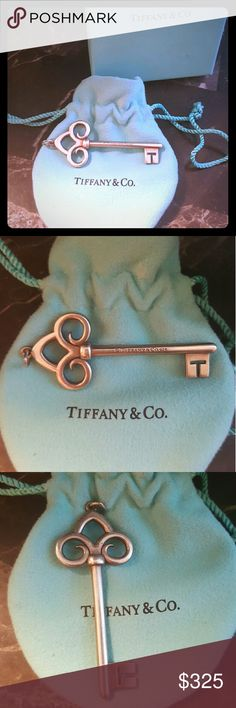 Authentic Tiffany & Co. Fleur-de-lis Pendant Tiffany & Co. authentic sterling silver Fleur-de-lis pendant. Extra Large 2.5 from bale to end. Pre-owned and excellent condition. Tiffany pouch and box included. Rare and not available any longer. Perfect gift or addition to your collection. Tiffany & Co. Jewelry