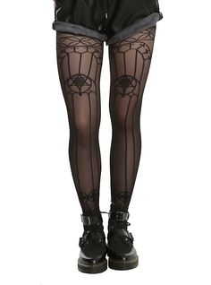 6c4d477a0  11.92 Blackheart Black Sheer Stained Glass Design Tights