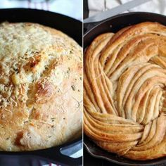 The 15 Best Bread Recipes You Can Bake in Your Cast Iron Skillet Most of these 15 cast iron skillet bread recipes require no kneading, which means they're even easier to whip up at home. Cast Iron Skillet Cooking, Skillet Bread, Iron Skillet Recipes, Cast Iron Recipes, Skillet Meals, Cooking With Cast Iron, Cooking Bread, Dutch Oven Cooking, Dutch Oven Recipes
