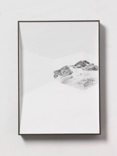 ULRIKE HEYDENREICH Ausblick 8, 2013 Object with pencil drawing 29 1/2 × 21 3/10 × 2 4/5 in 75 × 54 × 7 cm