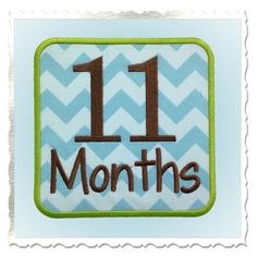 Monthly Onesie Applique Machine Embroidery Designs - Newborn Through 12 Months - 2 Sizes Each by RivermillEmbroidery on Etsy https://www.etsy.com/listing/125715437/monthly-onesie-applique-machine