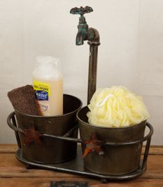 Faucet Planter Buckets  from Country Craft House
