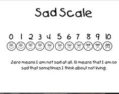Sad Scale Therapy Tools, Play Therapy, Therapy Ideas, Sand Play, Liking Someone, No Worries, Scale, Chart, Feelings
