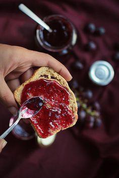 Grape & Ginger Jam via Love Food Eat