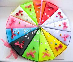 Прикольный торт из бумаги можно сделать своими руками. Так же в этот бумажный торт вложите пожелания. Список идей для пожеланий на 13 кусочков... На 8 марта, День валентина, День Рождения