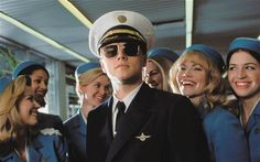 'Catch Me If You Can' teenager impersonates doctor. Leonardo Dicaprio looks so young in this film. Great film.
