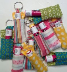Tutorial for Sewing your OwnChapstick Keychain