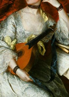 Traveling through history of Art...Ann Ford, detail, by Thomas Gainsborough, 1760.