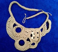 Knitted necklace freeform accessory crocheted от MiracleClew