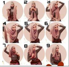 The same hijab style every day . We help you to look elegant, beautiful and trendy . Hijab Chic, Stylish Hijab, Modern Hijab, Tutorial Hijab Modern, Hijab Style Tutorial, Muslim Women Fashion, Islamic Fashion, Beau Hijab, Hashtag Hijab