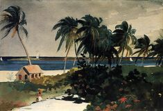 Nassau, Watercolour by Winslow Homer (1836-1910, United States)