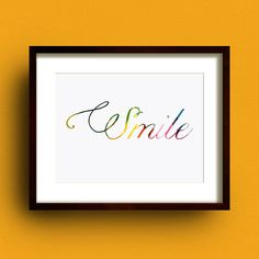 'smile' print by dig the earth | notonthehighstreet.com