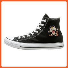 SOLO Unisex The Music Offspring High Top Sneakers Canvas Shoes Fashion  Sneakers Shoes Casual Style 43 Black ** Read more at the image link.