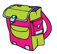 This cartoon school backpack clip art has been released to the public domain so use it freely on your personal or commercial projects without restrictions.