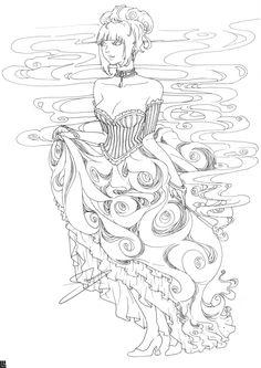 Madame Mist Coloring Page by ravefirell.deviantart.com on @deviantART