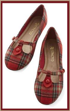 Love these Tartan Mary Janes