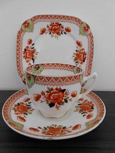 Vintage Royal Albert Crown China Tea Set Trio 1927 1935
